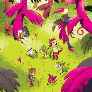 ילדים בג'ונגל
