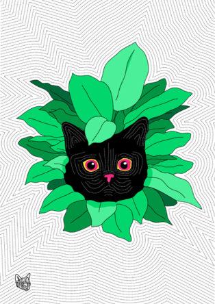 Cat&Leaves